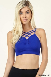Zenana Outfitters Double Cross Bralette - Product Mini Image