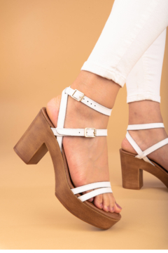 Seychelles  Double Dip White Leather Heel - Product List Image