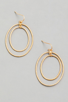 Fame Accessories Double Faceted Hoop Earrings - Alternate List Image