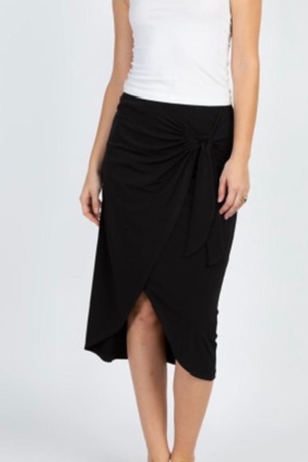 Olivia Graye Double Faux Wrap Skirt - Front Cropped Image