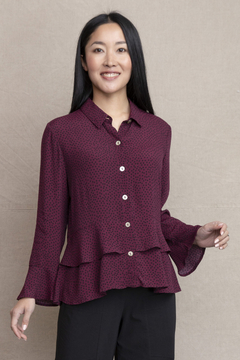 Habitat Double flounce button up top with dots - Product List Image