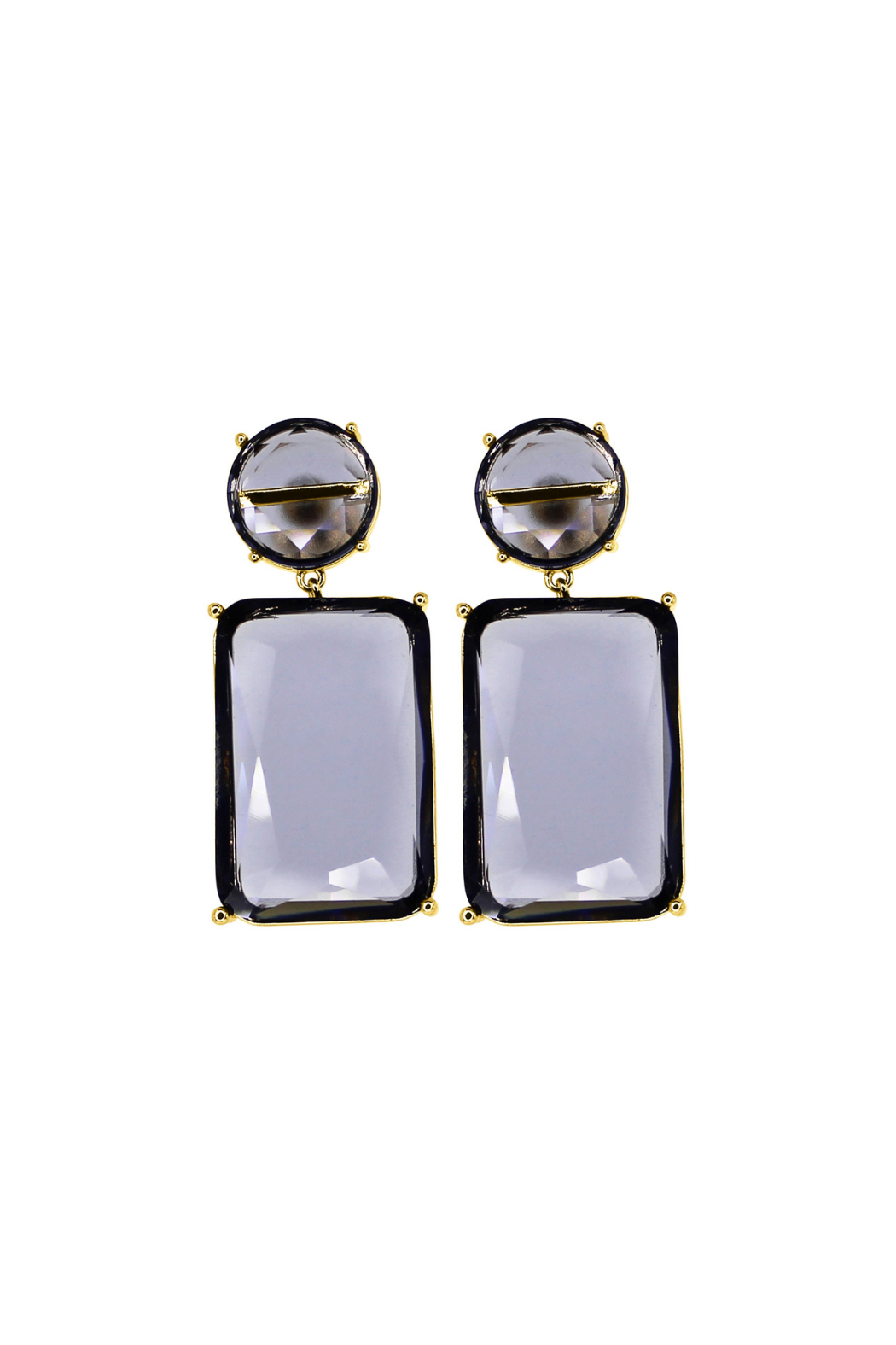 Rush by Denis & Charles Double Hanging Glass Earring - Main Image