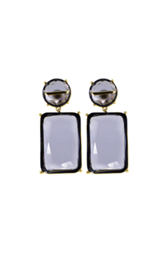 Rush by Denis & Charles Double Hanging Glass Earring - Product List Image