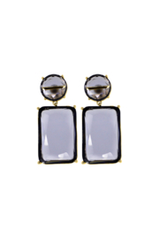 Rush by Denis & Charles Double Hanging Glass Earring - Front cropped
