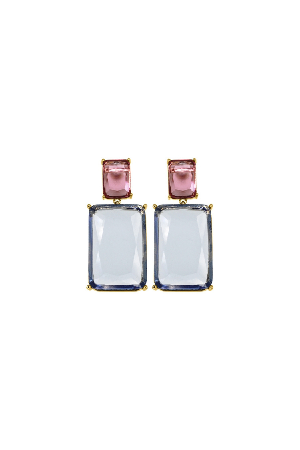 Rush by Denis & Charles Double Hanging Glass Earring - Front Cropped Image