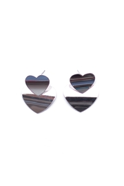 May 23 Double Heart Earrings - Product Mini Image