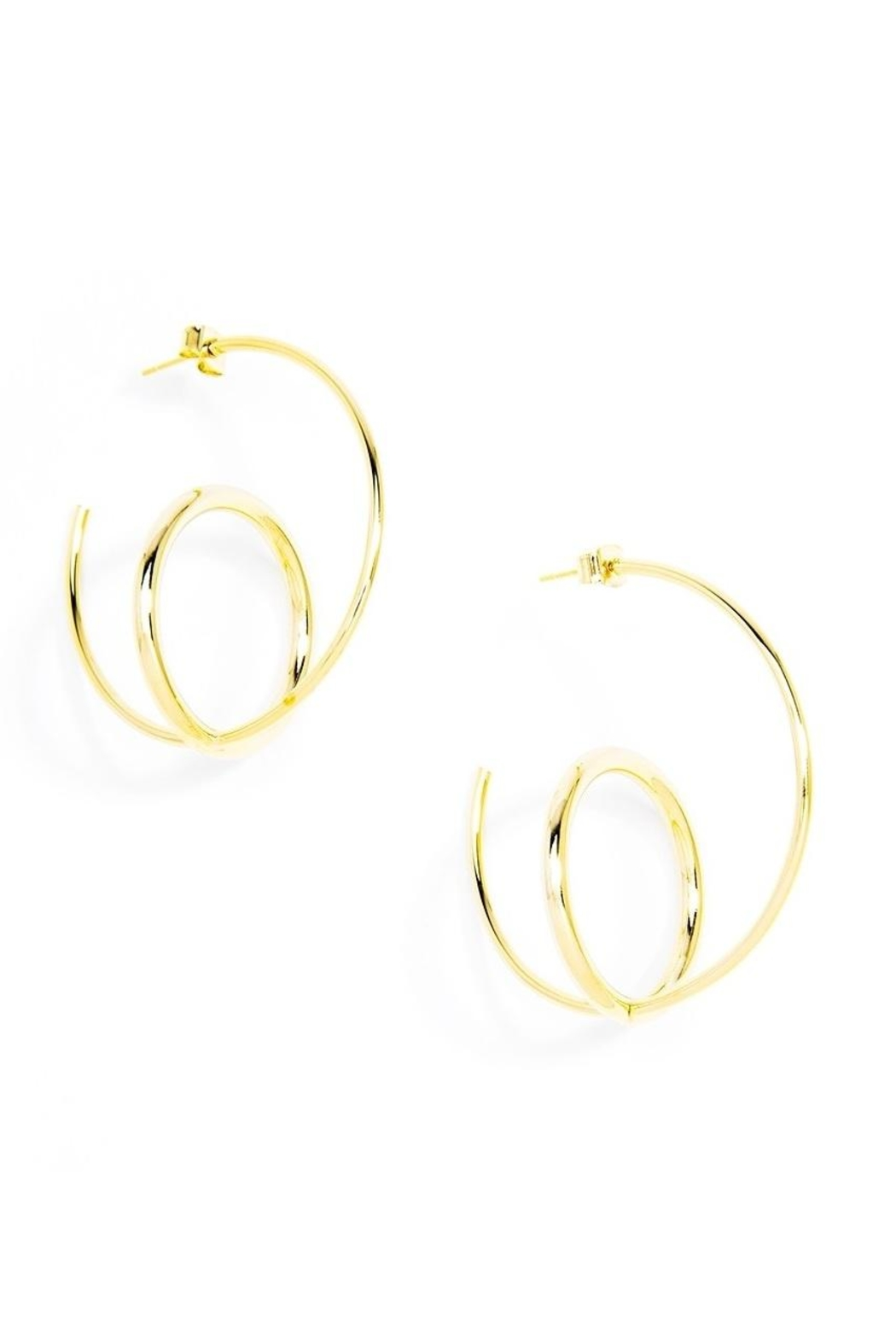 Zenzii Double Hoop Earrings Front Cropped Image
