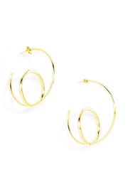 Zenzii Double Hoop Earrings - Product Mini Image