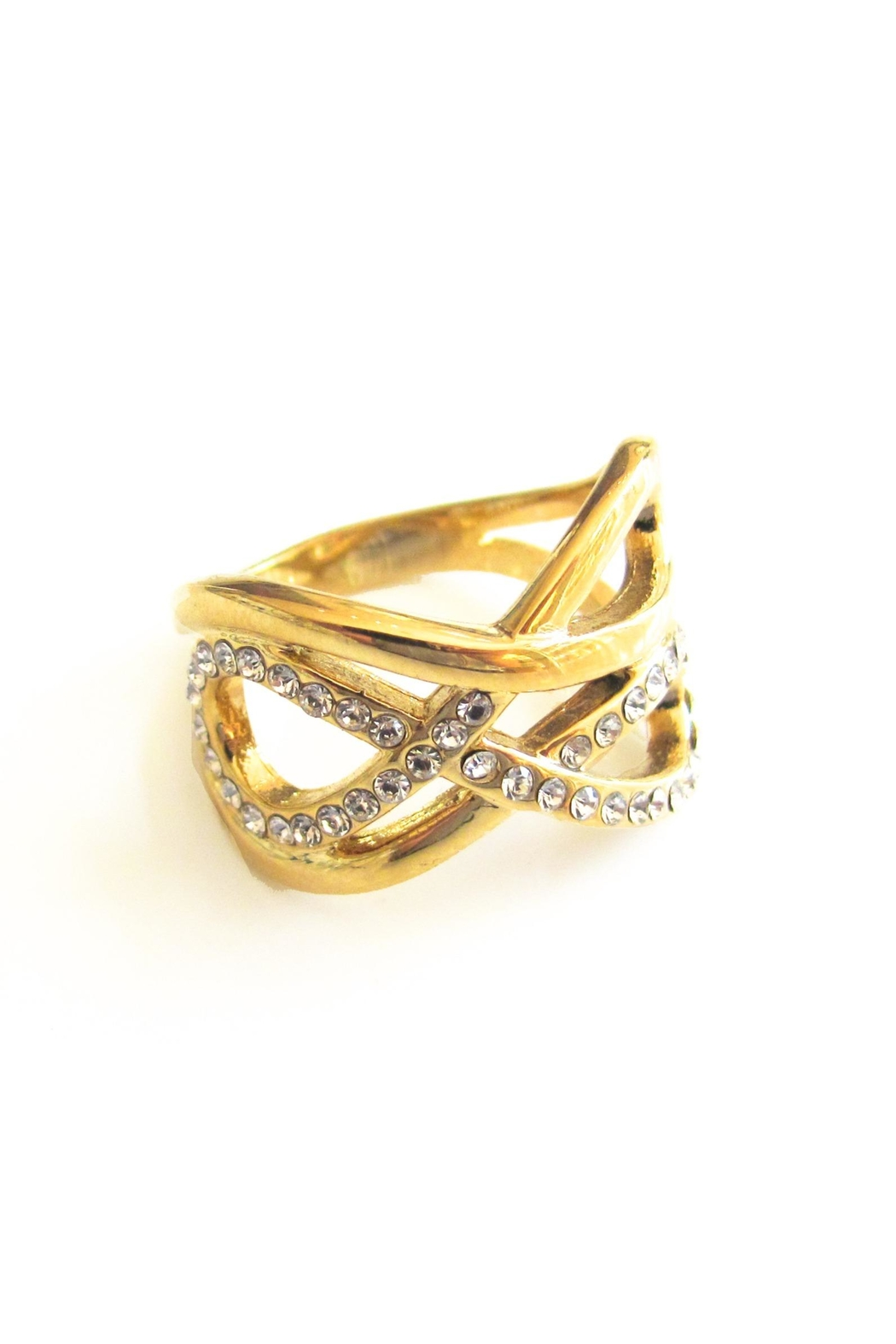 Malia Jewelry Double Infinity Ring - Front Full Image