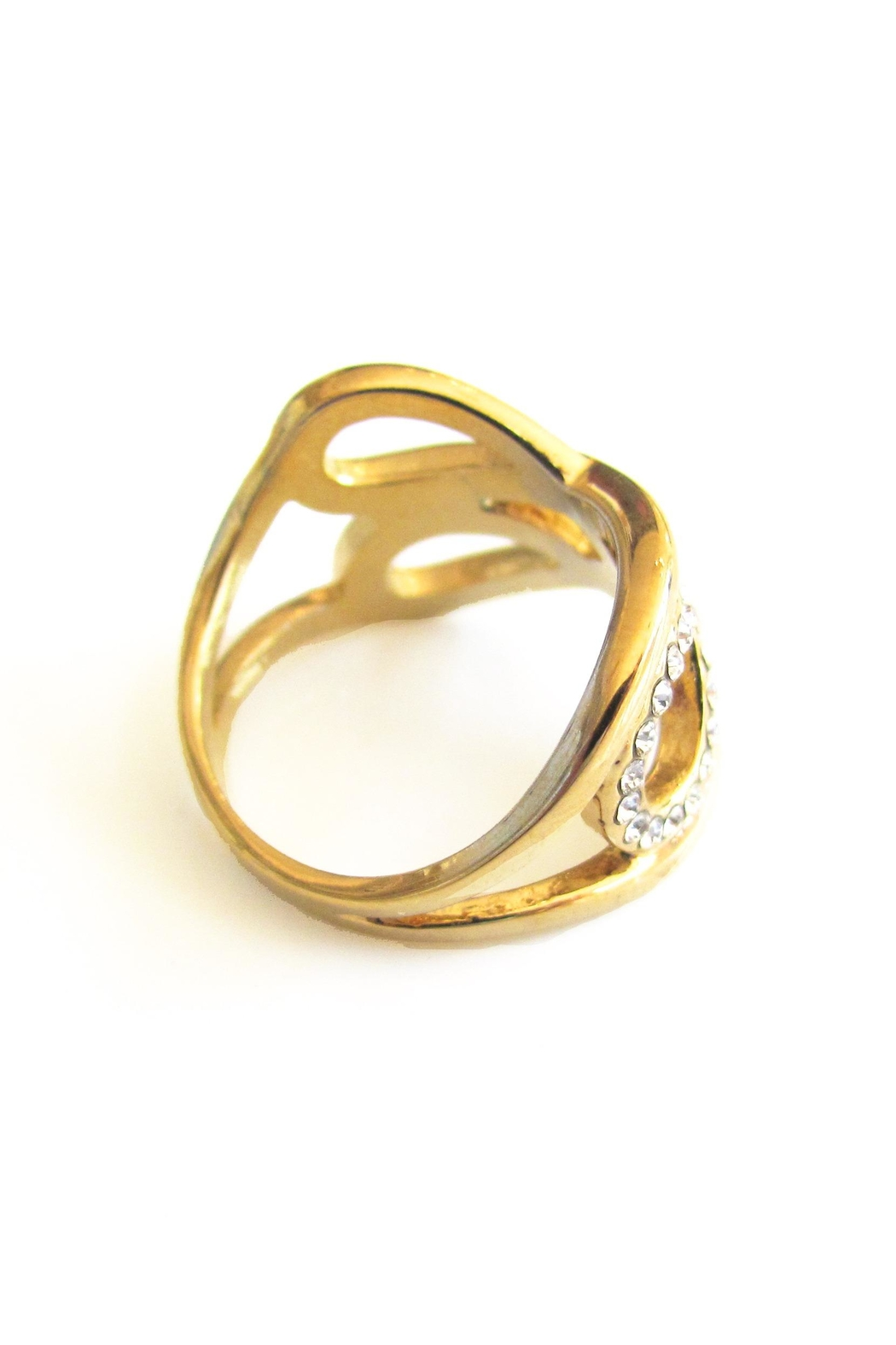 Malia Jewelry Double Infinity Ring - Back Cropped Image