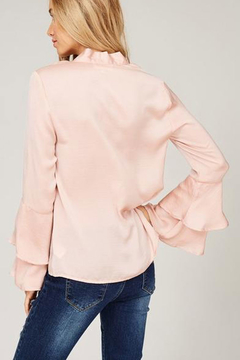 Listicle Double Layer Bell Sleeve Tie Top - Alternate List Image