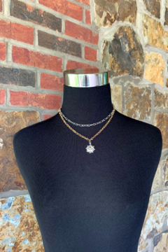 Nicole Lipton Jewelry Double Layer Chain Necklace w Charms - Alternate List Image