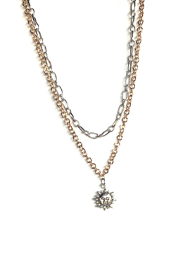 Nicole Lipton Jewelry Double Layer Chain Necklace w Charms - Product List Image