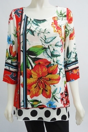 Michael Tyler double layer floral and polka dot tunic - Product Mini Image