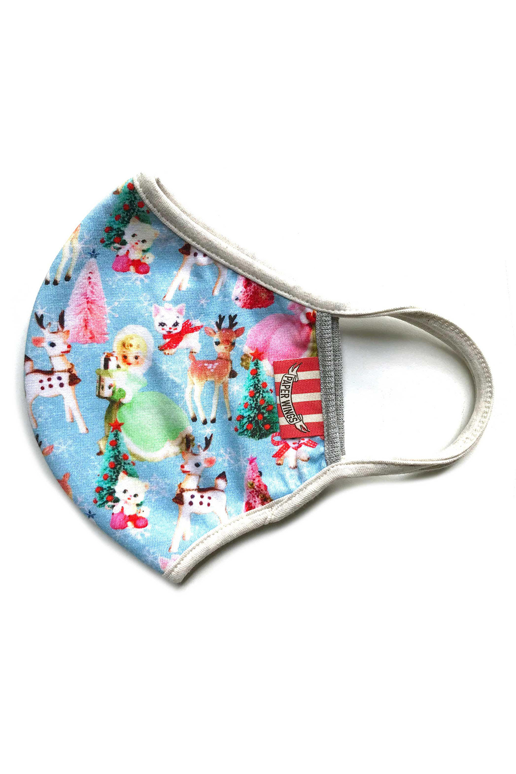 Paper Wings Double Layer Jersey Face Mask - Fluff (2 - 7 Years) - Main Image