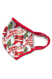 Paper Wings Double Layer Jersey Face Mask - Merry Christmas (2 - 7 Years) - Front cropped