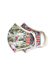 Paper Wings Double Layer Jersey Organic Cotton Face Mask - Dusk/Tattoo Floral (7+ Years) - Product Mini Image