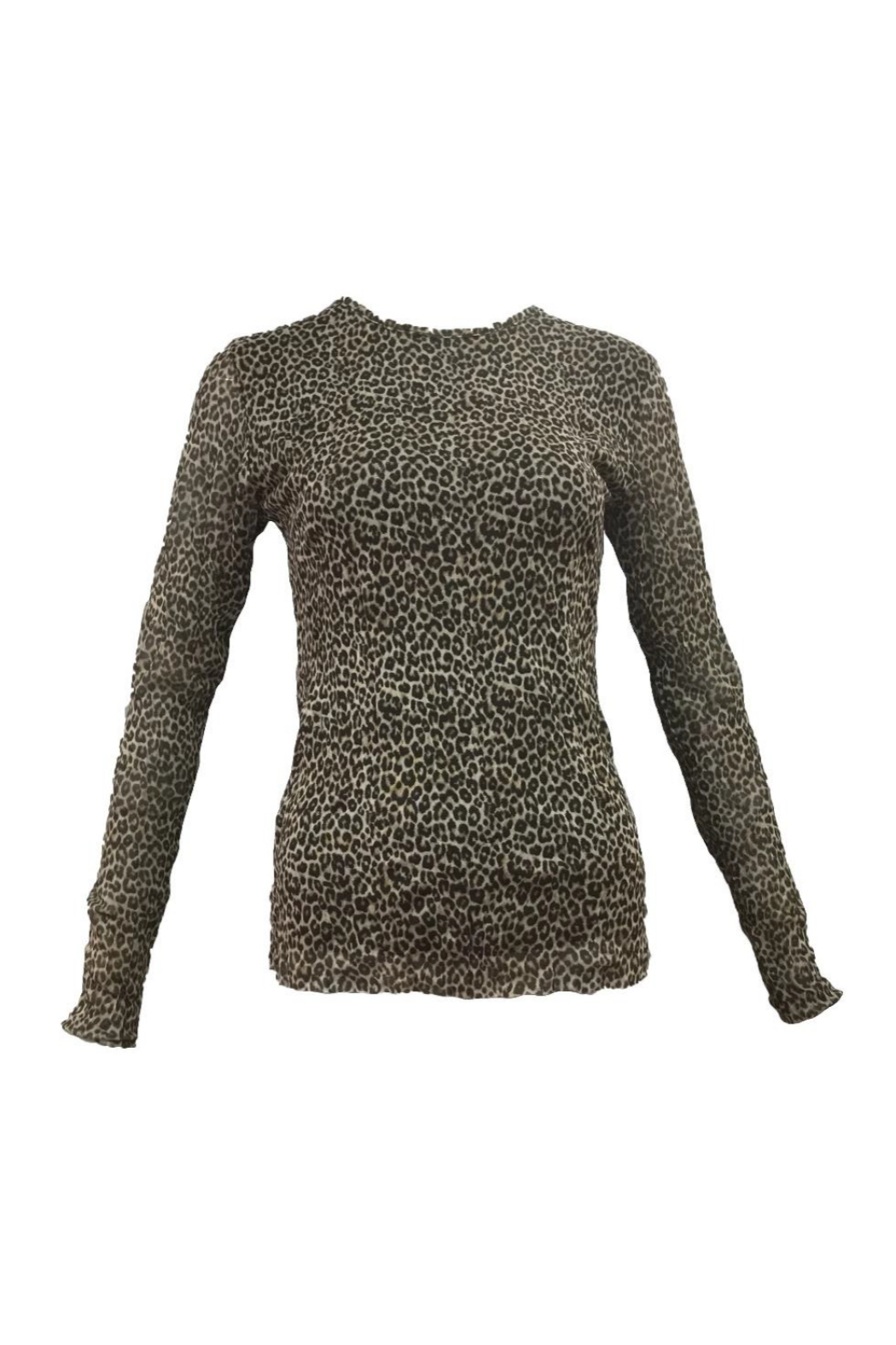 Femme Fatale Double Layer Leopard Top - Front Cropped Image