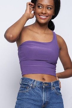 Better Be Double Layer One Shoulder Crop - Product List Image