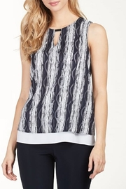 Frank Lyman Double Layer Printed Keyhole Blouse - Product Mini Image