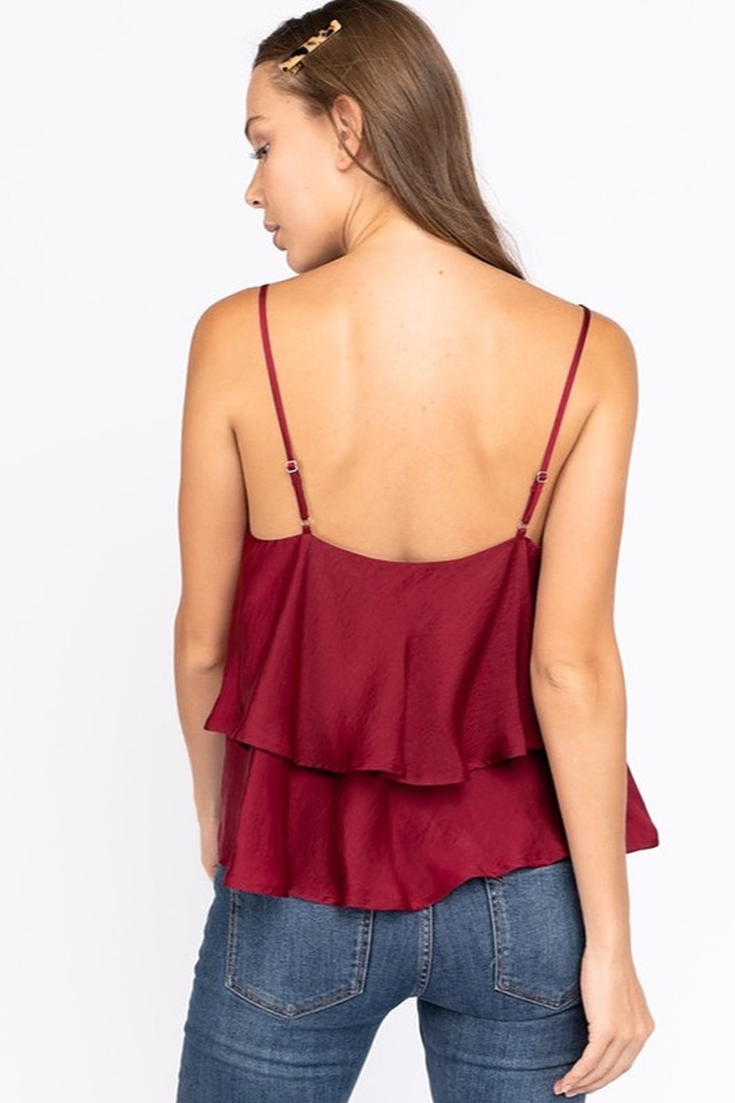 Le Lis Double Layer Satin Cami - Side Cropped Image