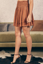 Mustard Seed Double Layer Skirt - Front full body