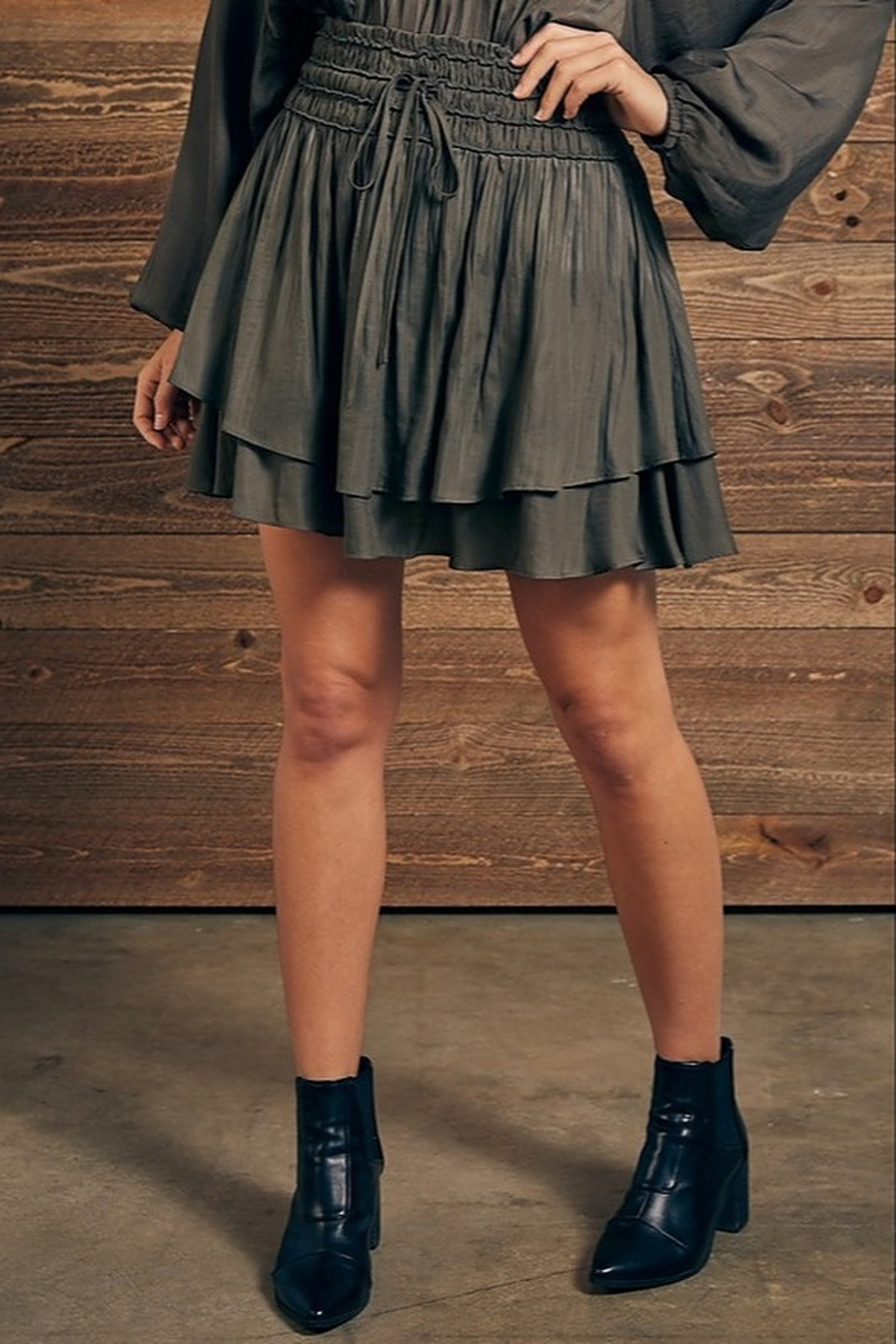 Mustard Seed Double Layer Skirt - Front Cropped Image