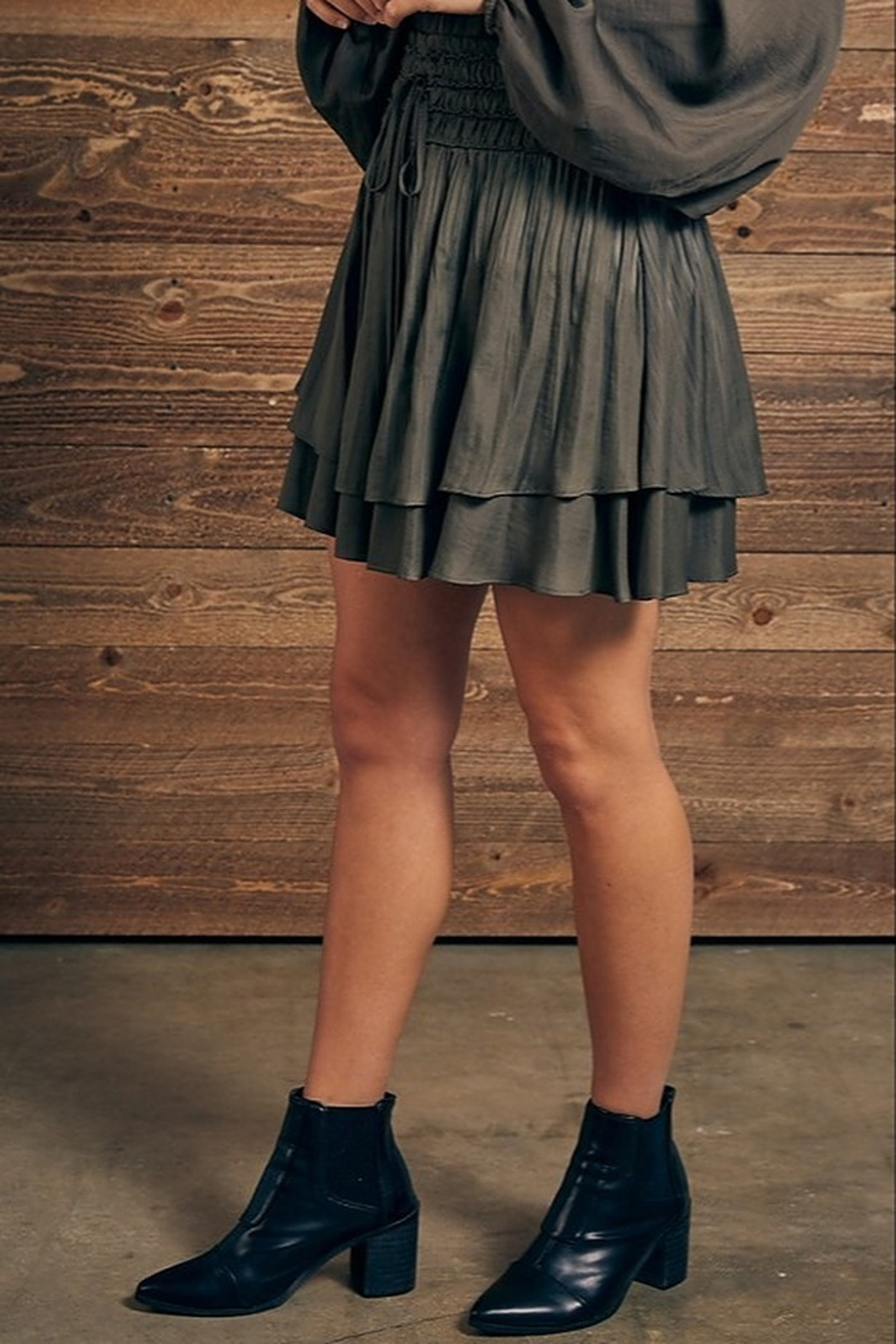 Mustard Seed Double Layer Skirt - Front Full Image