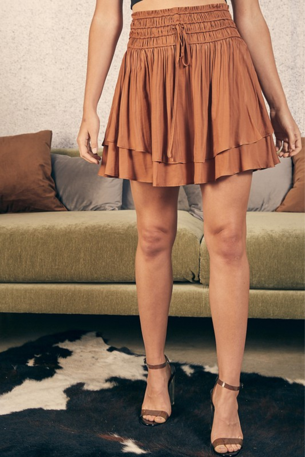 Mustard Seed Double Layer Skirt - Main Image
