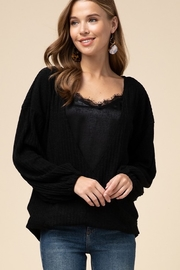 Entro Double layer surplice top - Product Mini Image