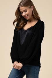 Entro Double layer surplice top - Front full body