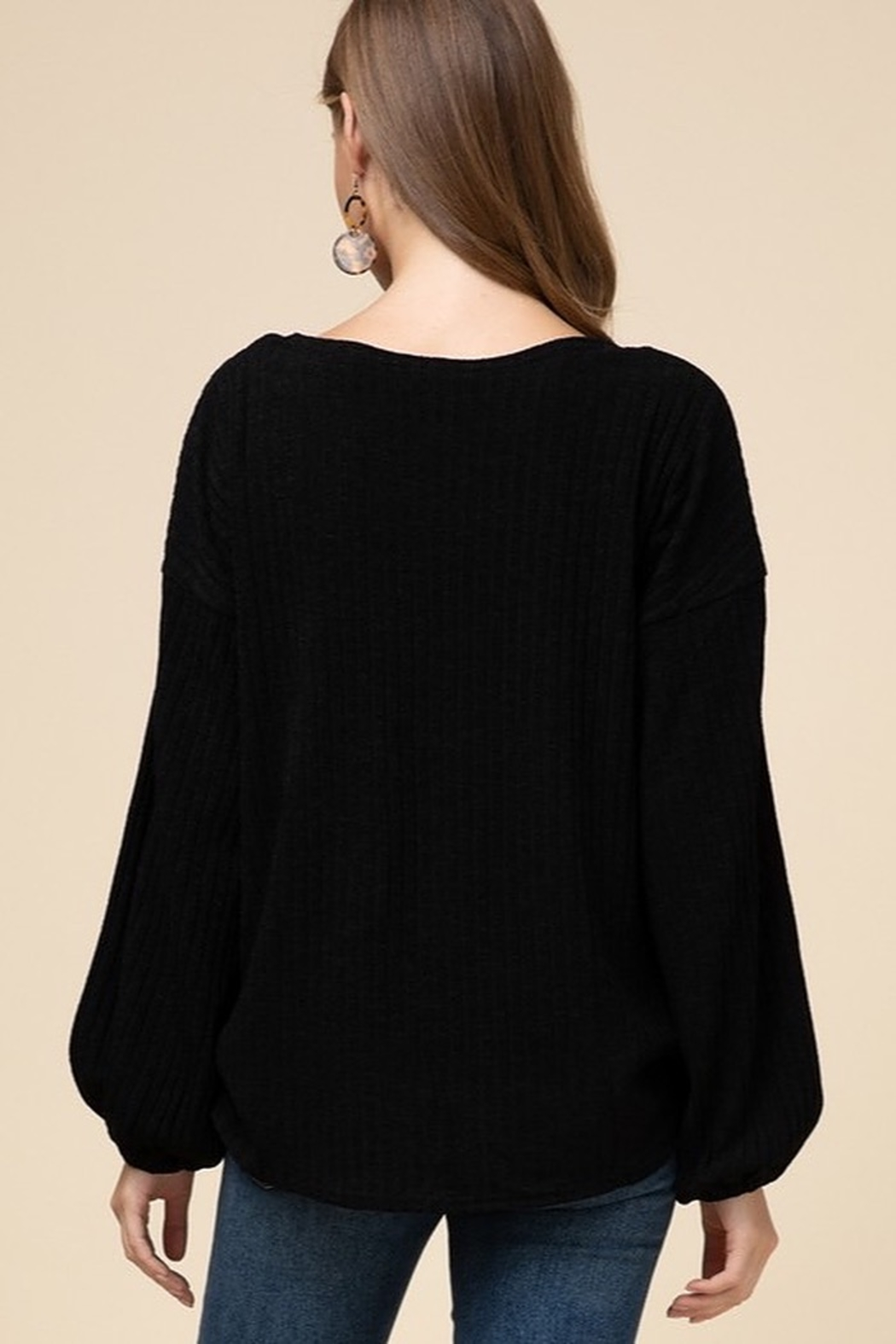 Entro Double layer surplice top - Side Cropped Image