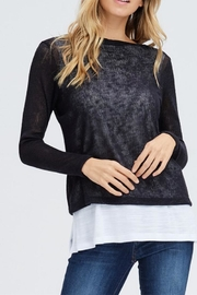 Jolie Double Layer Sweater - Product Mini Image