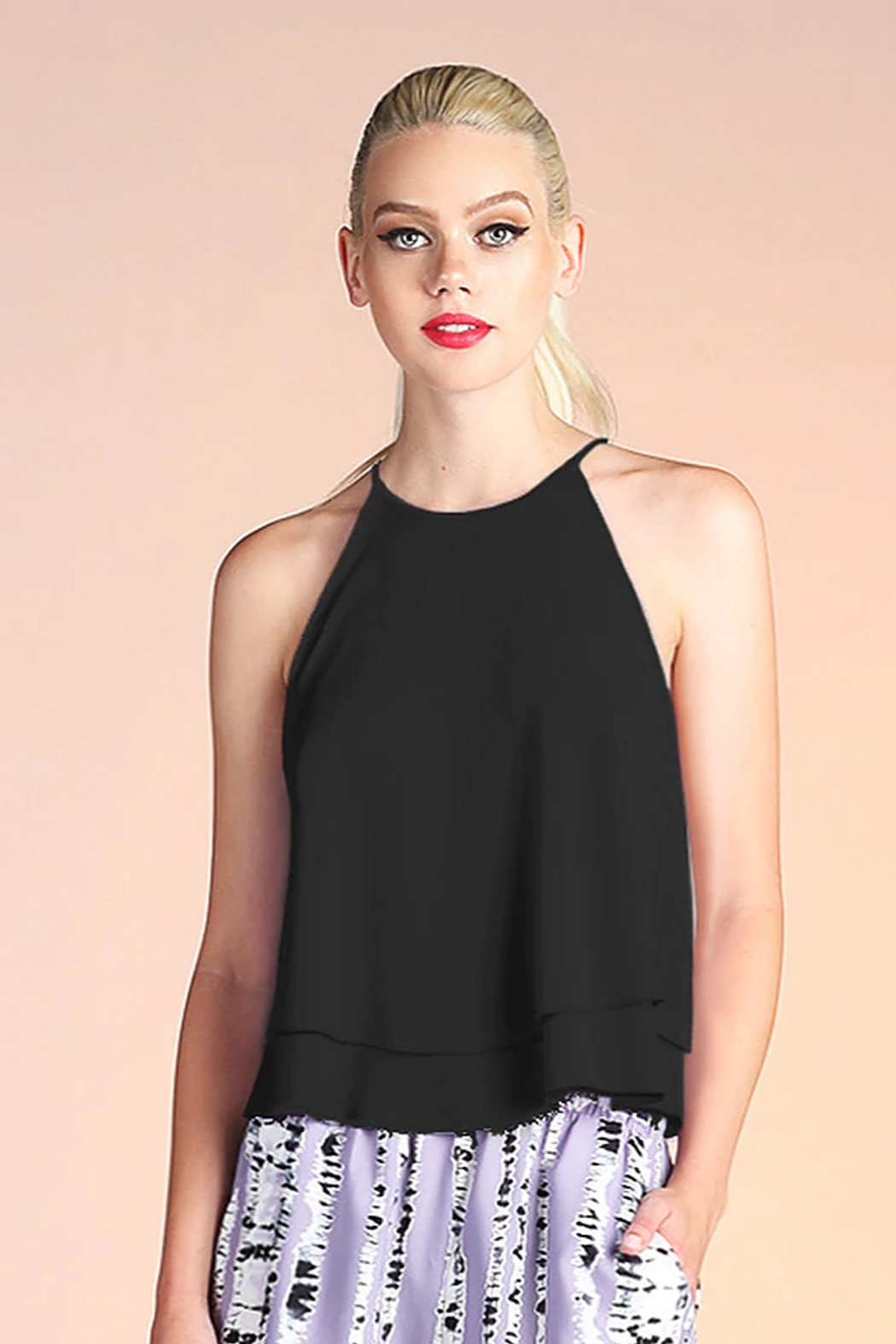 Tyche Double Layer Tank - Front Cropped Image