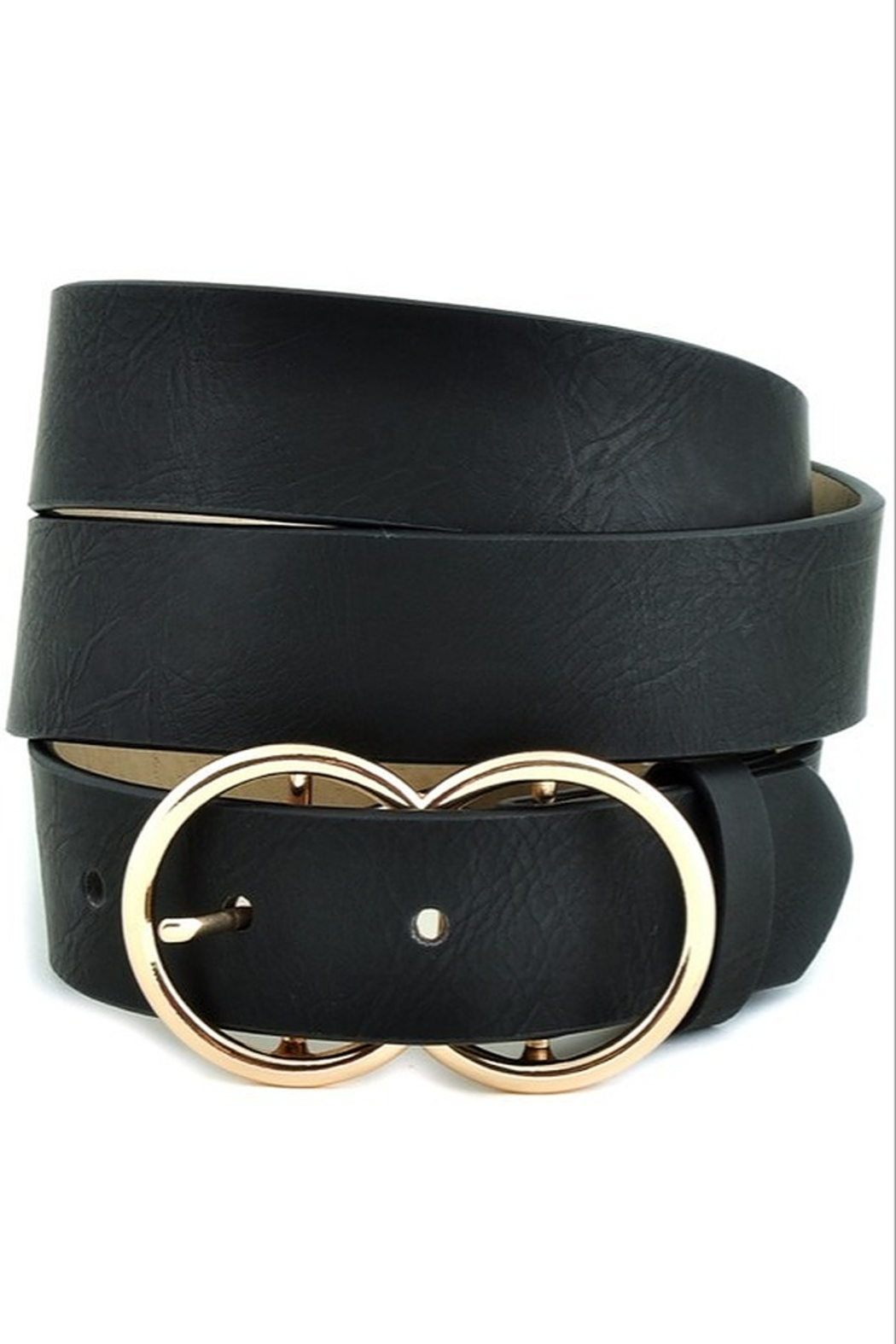 Stonesthrow Boutique Double O Ring Belt (more colors) - Front Cropped Image