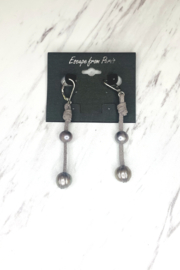Escape From Paris Double Pearl Dangle Earrings - Product Mini Image