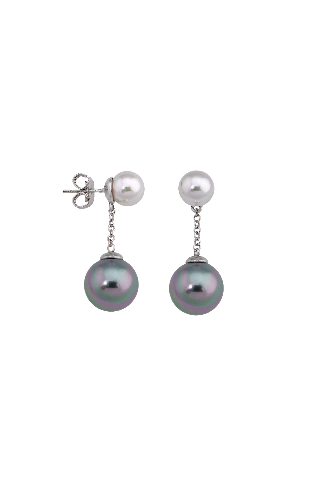 Majorica Double Pearl Drop Earring - Front Cropped Image
