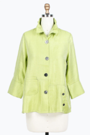 Damee Double Pocket Short Jacket - Front full body