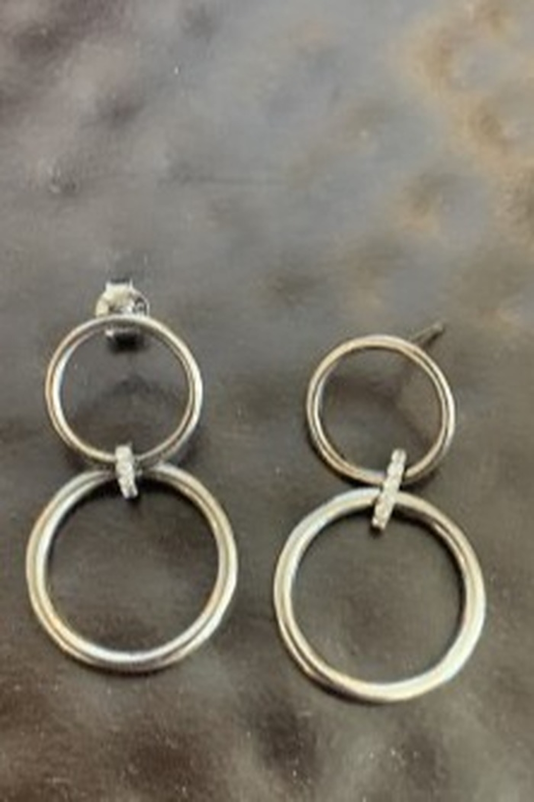 Ela Rae Double ring earrings - Main Image