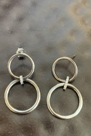 Ela Rae Double ring earrings - Front cropped
