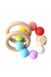 Chewies Double Ring Rattle - Front cropped