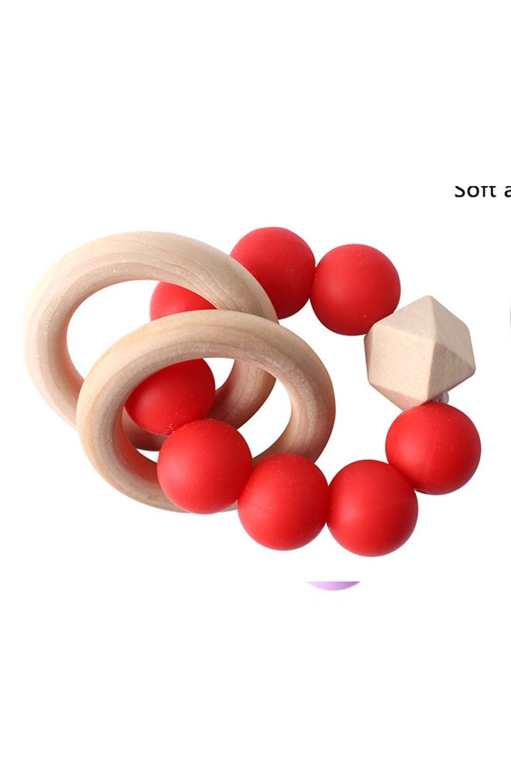 Chewies Double Ring Rattle - Main Image