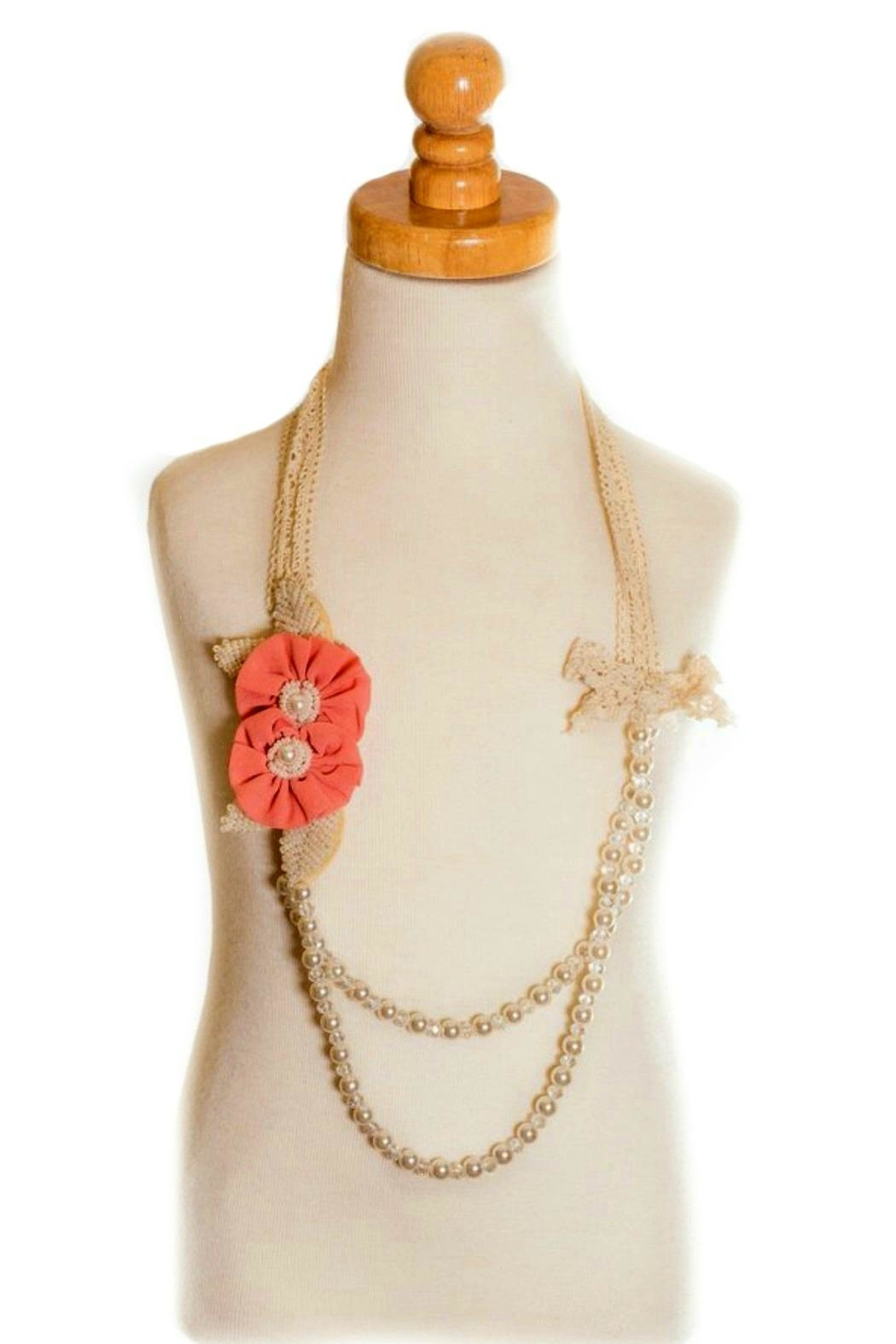 ML Kids Double-Rosette-Beaded-Pearl-Necklace - Side Cropped Image