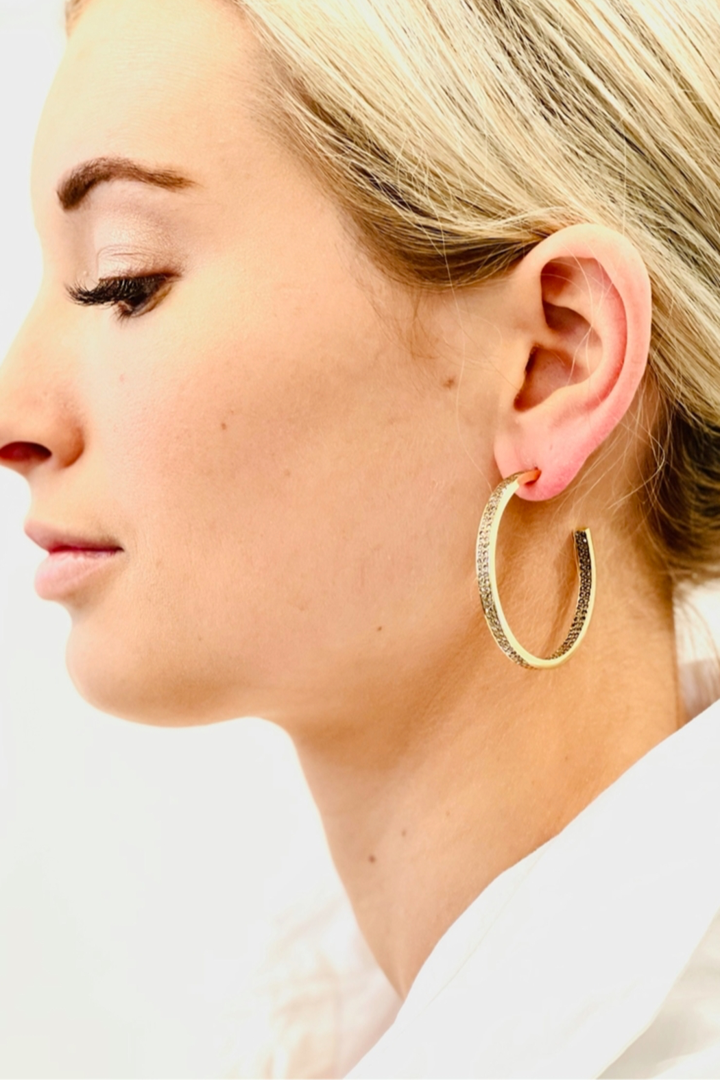 The Woods Fine Jewelry  Double Row Brass Hoops - Main Image