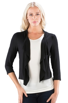 Neesha double ruched cropped cardigan - Product List Image