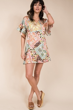 Ivy Jane  Double Ruffle Sleeve Tunic Dress - Product List Image