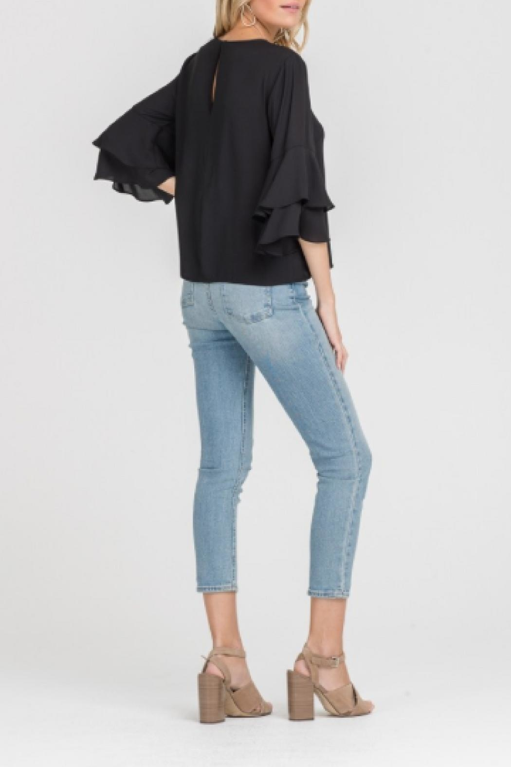 Lush Double Ruffle Top - Side Cropped Image