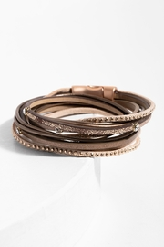 Saachi Double Segovia Leather Wrap Bracelet - Product Mini Image