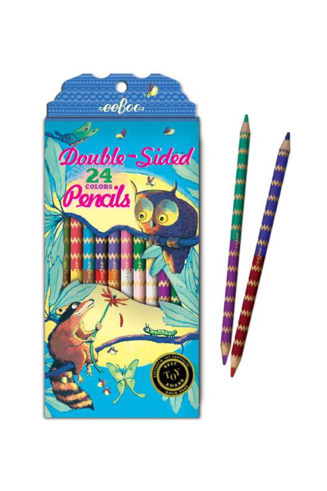 Eeboo Double-Sided 24 Pencils - Front Full Image