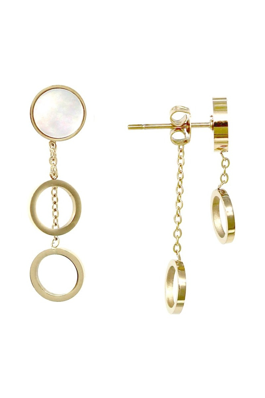 US Jewelry House Double Sided Earrings - Main Image